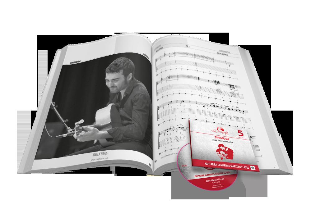 Flamenco Maestro lessen Boek met DVD partituren en tabs