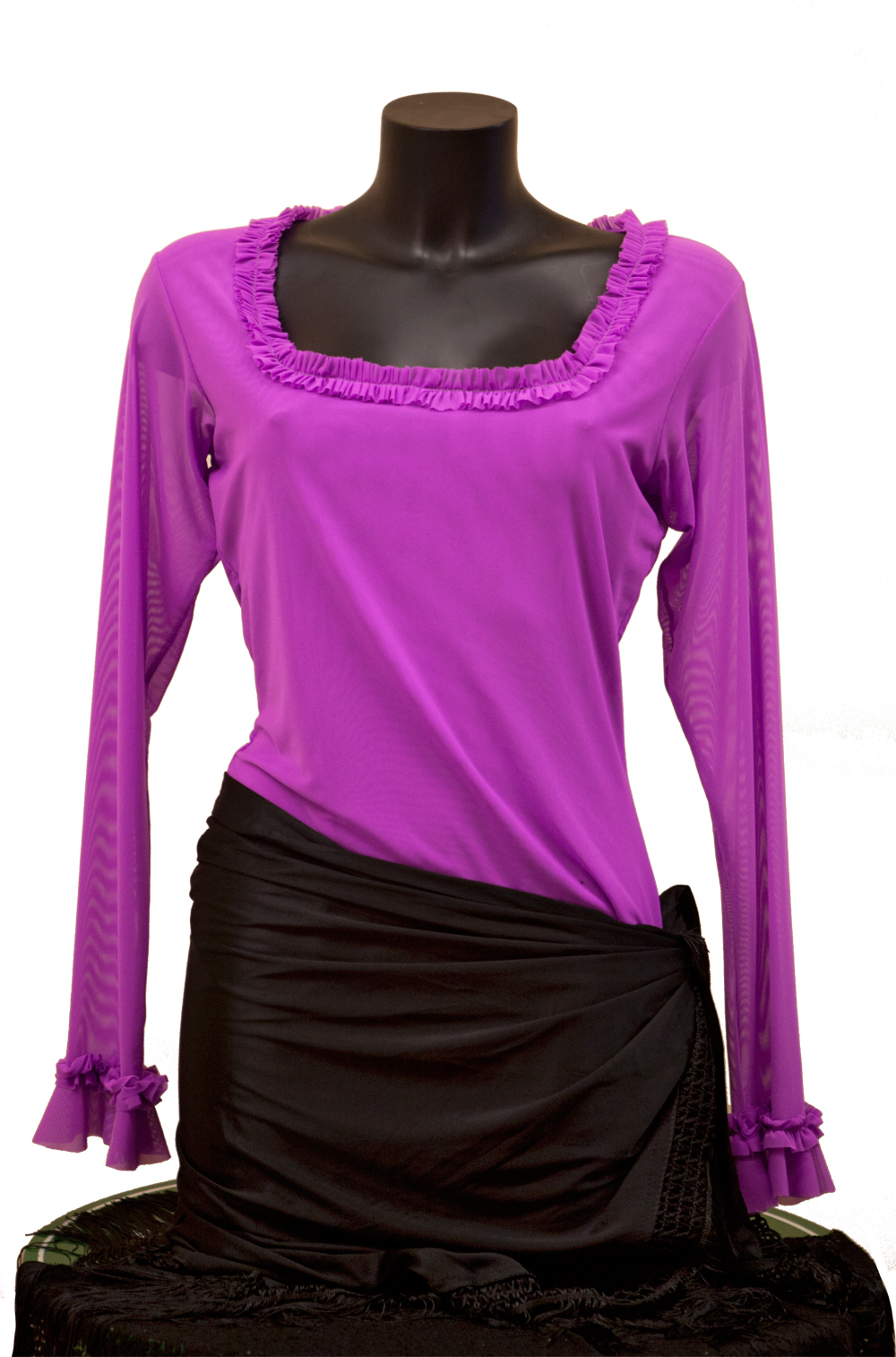 Flamenco top Senovilla Fuschia (size L)