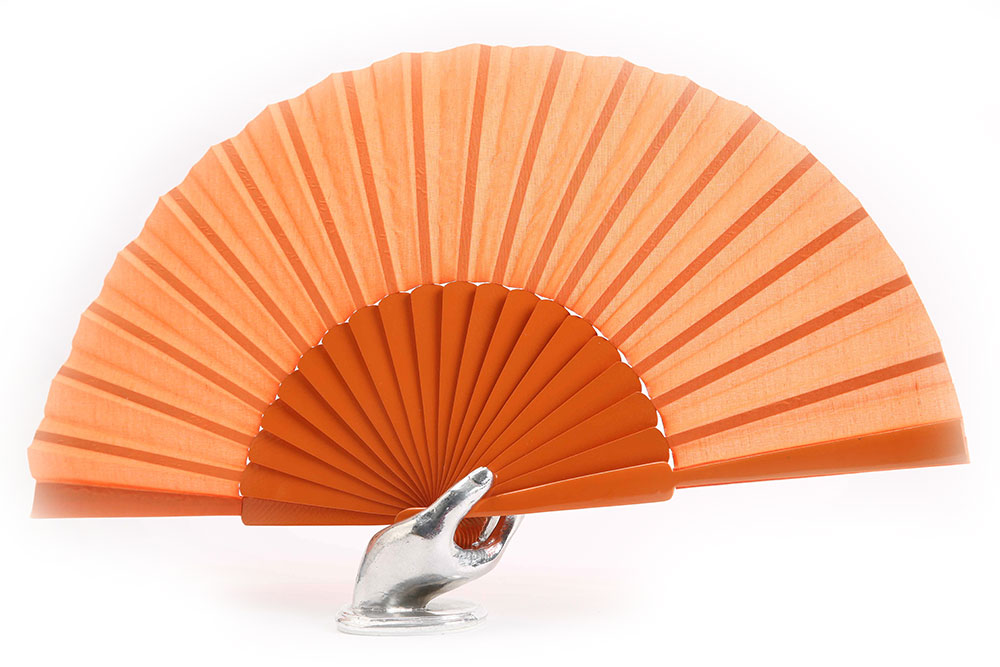 Spanish dance fan orange 31cm