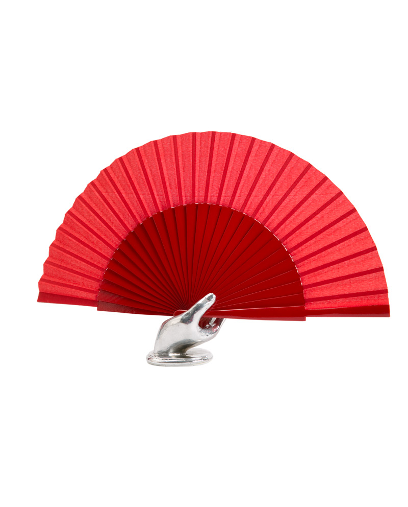 Spanish flamenco dance fan red 27cm.