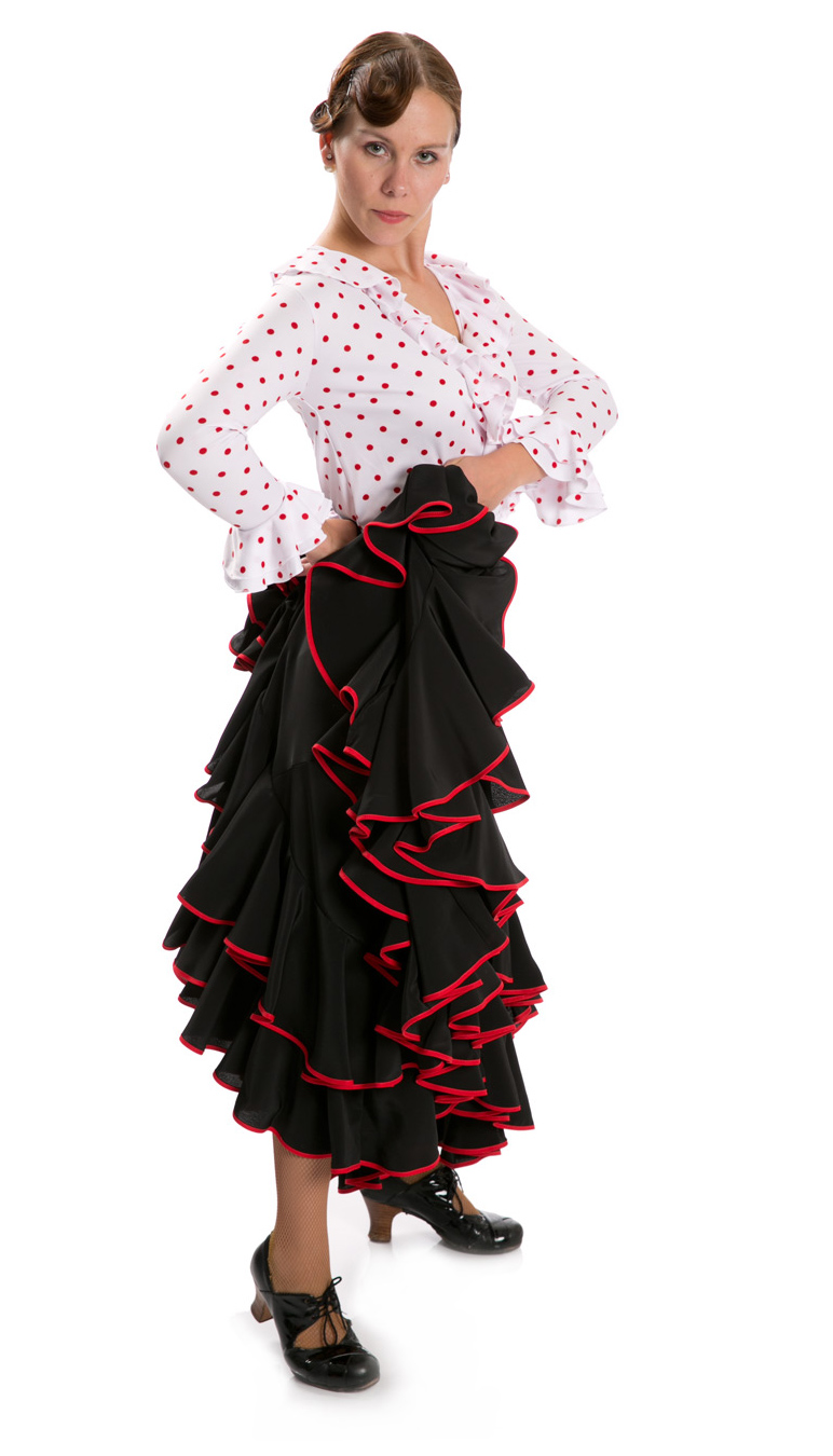 Flamenco Dance Skirt Triana K Black