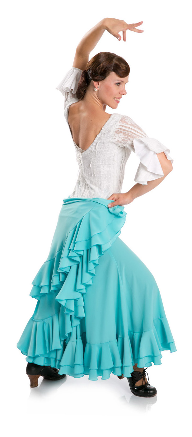 Flamenco dance skirt Triana W light blue (size XS)
