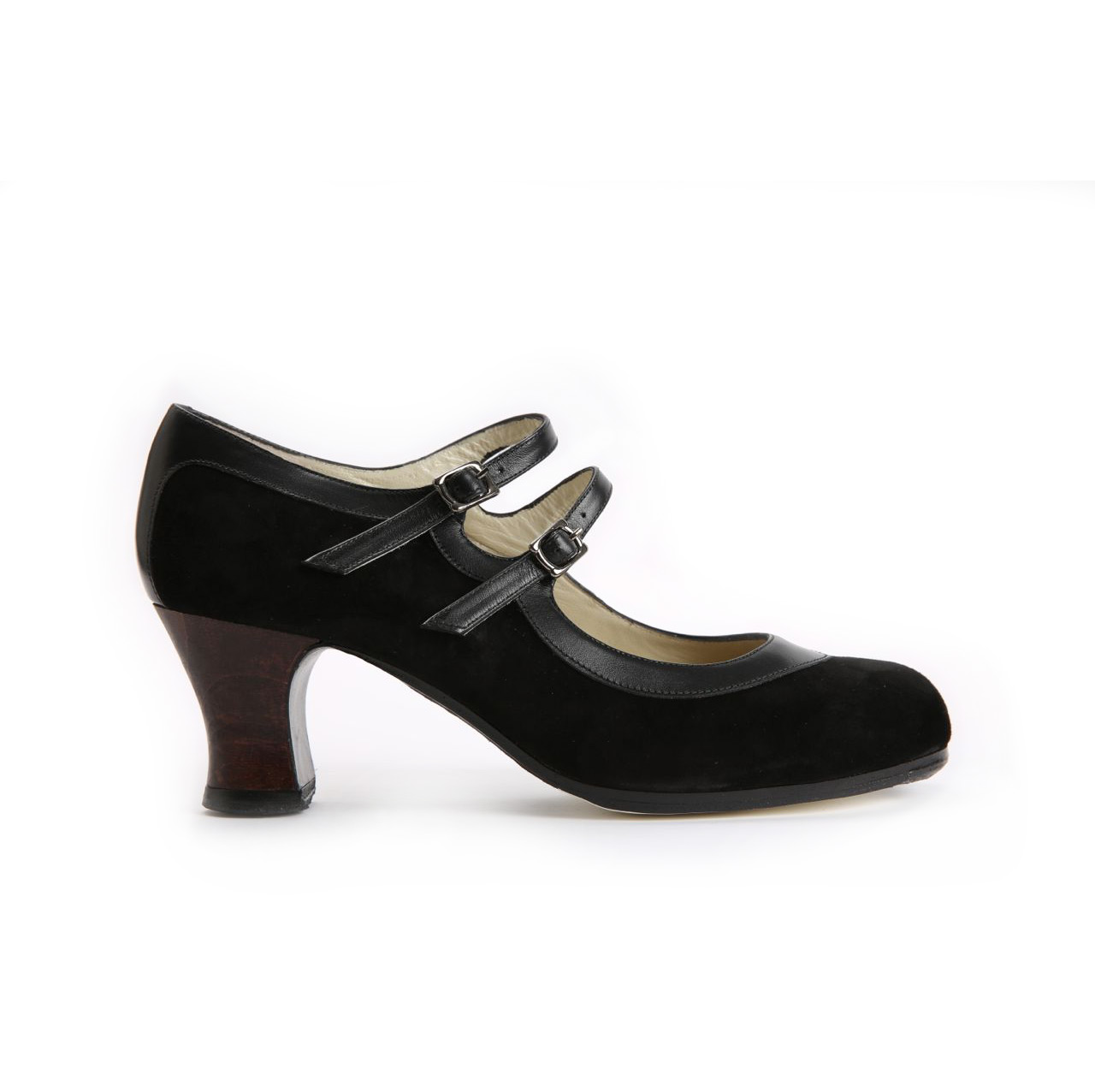Flamenco dance Shoe Dos Correas Suède Black