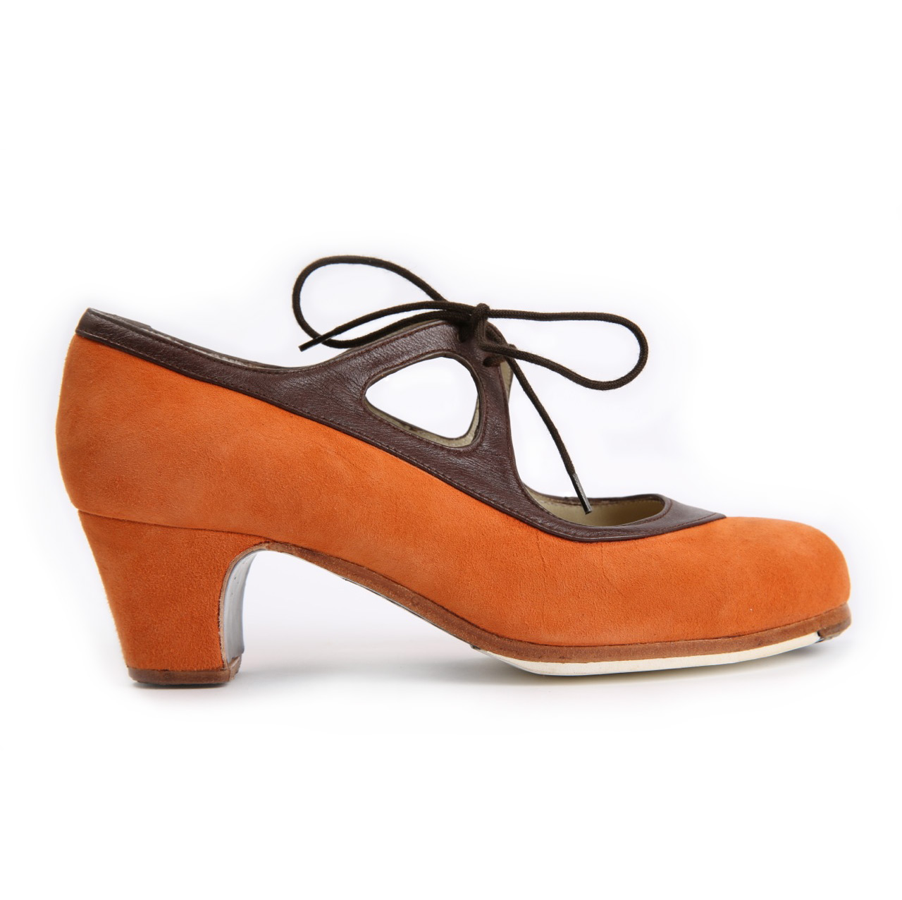 Flamenco dance Shoe Candor Suède Orange/Brown