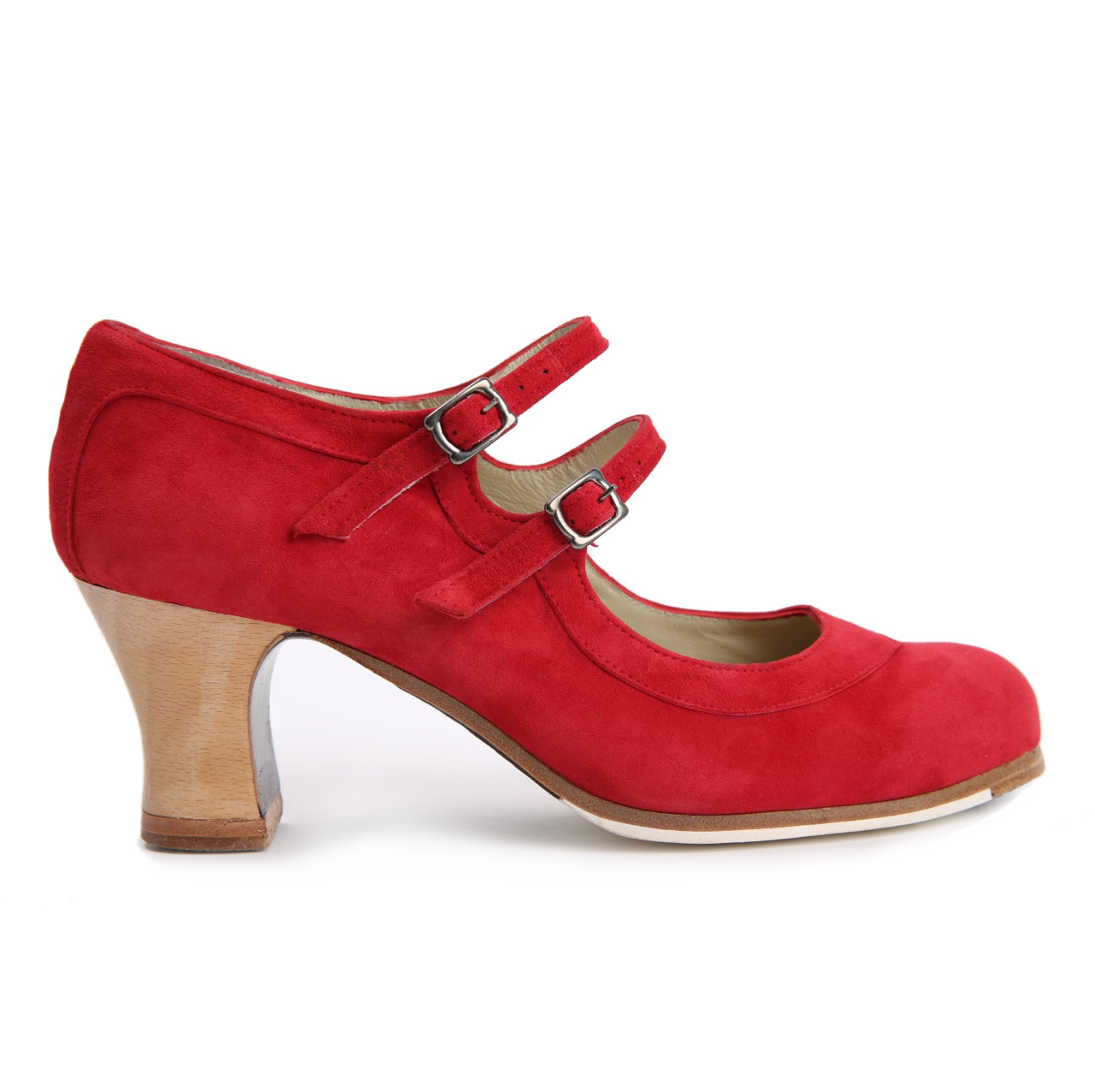 Flamenco dance Shoe Dos Correas Suède Red