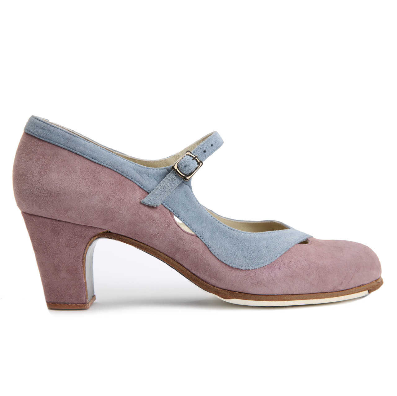 Flamenco dance Shoe Salon Correa II Suède Purple/Blue