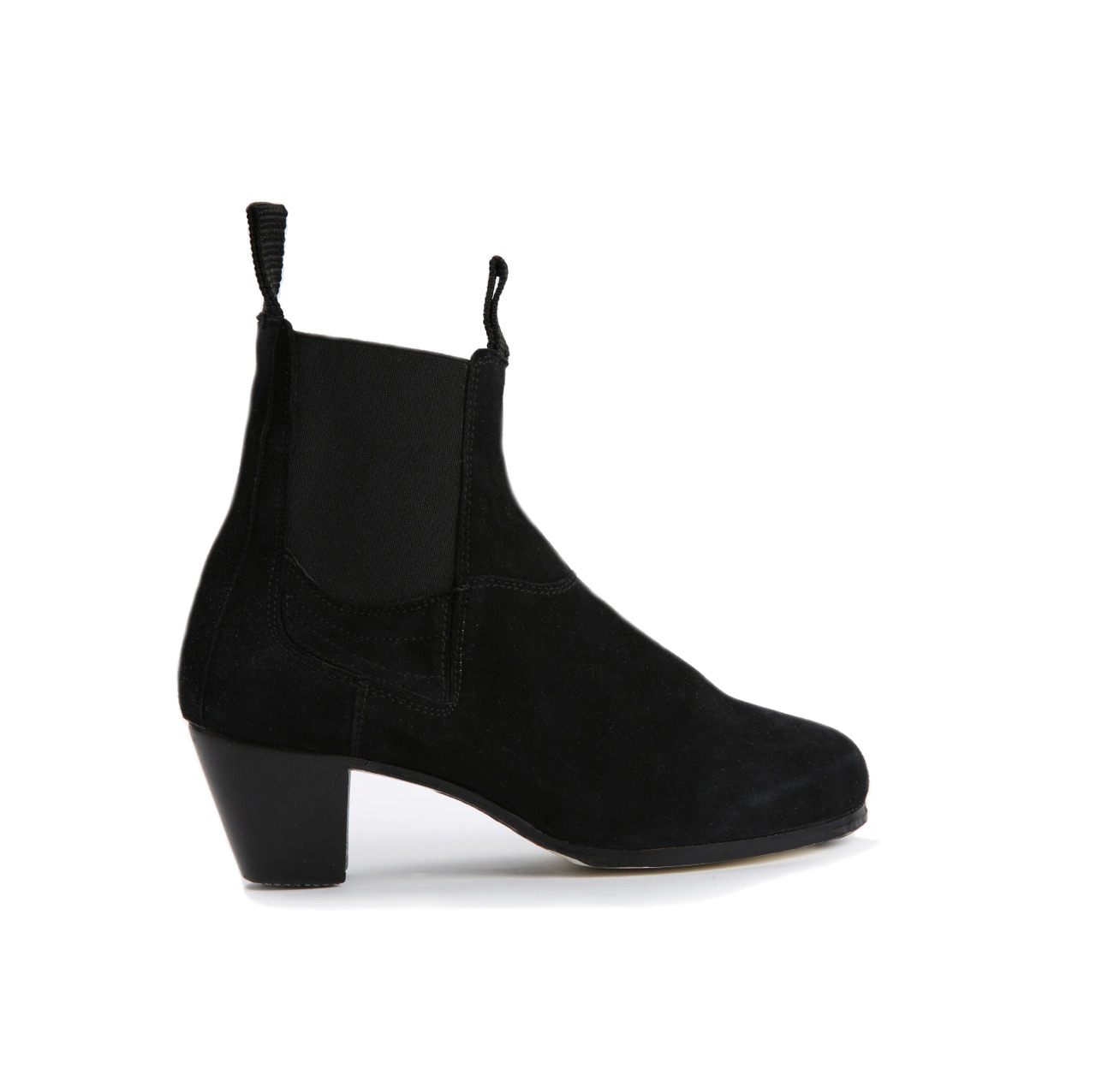 Flamenco dance Shoe Boto II Normal Black Suède