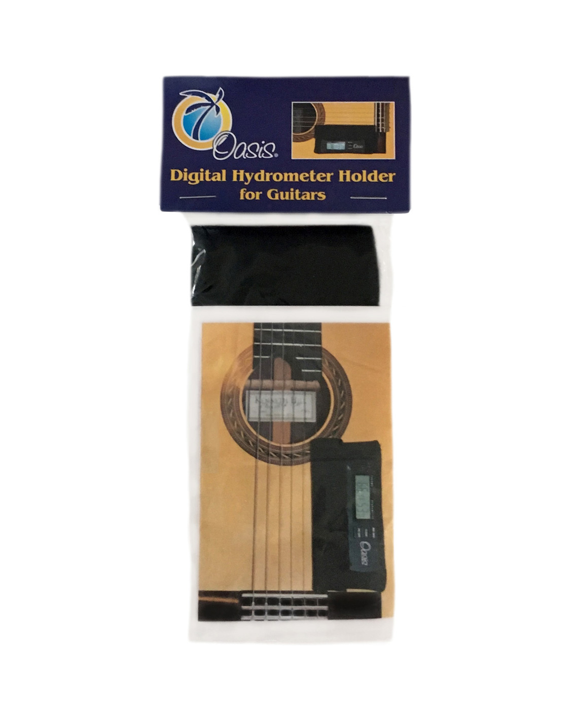 Hygrometer holder for mounting on guitar