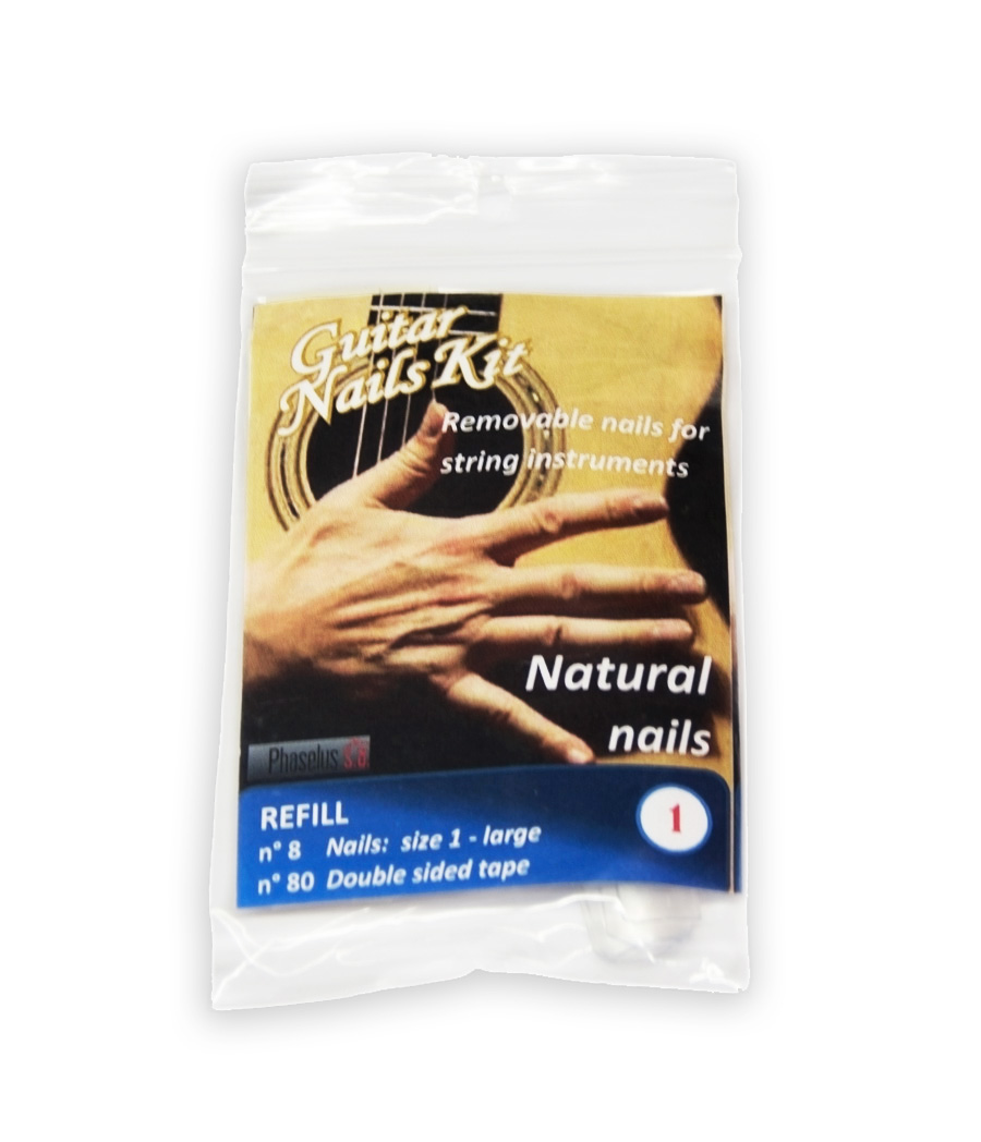Refill largest size L Natural nails