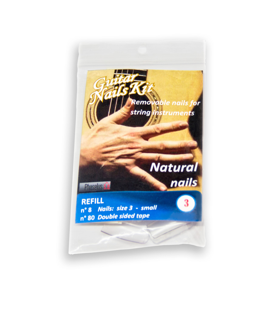 Refill smallest size S Natural nails