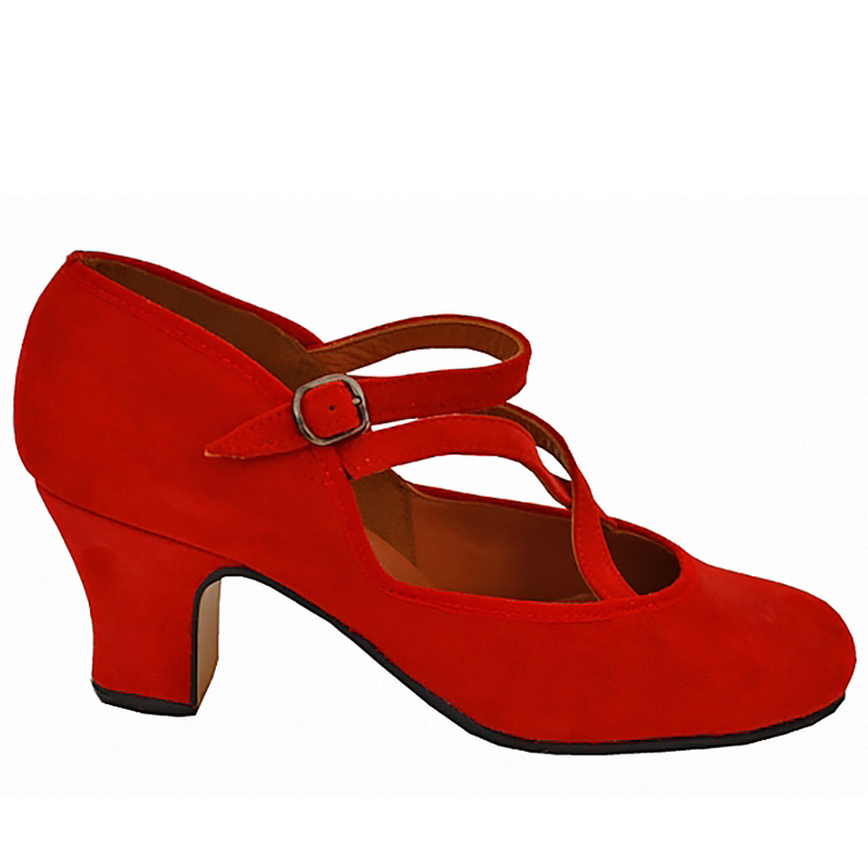 flamenco shoe red suede