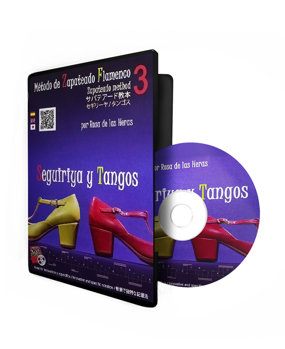 Seguiriya + Tango flamenco dance DVD lessons from the conservatory of Madrid vol 3