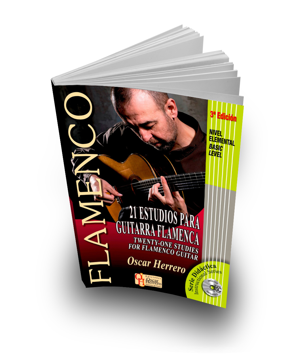 21 studies for flamenco guitar, beginner level (Book + CD)