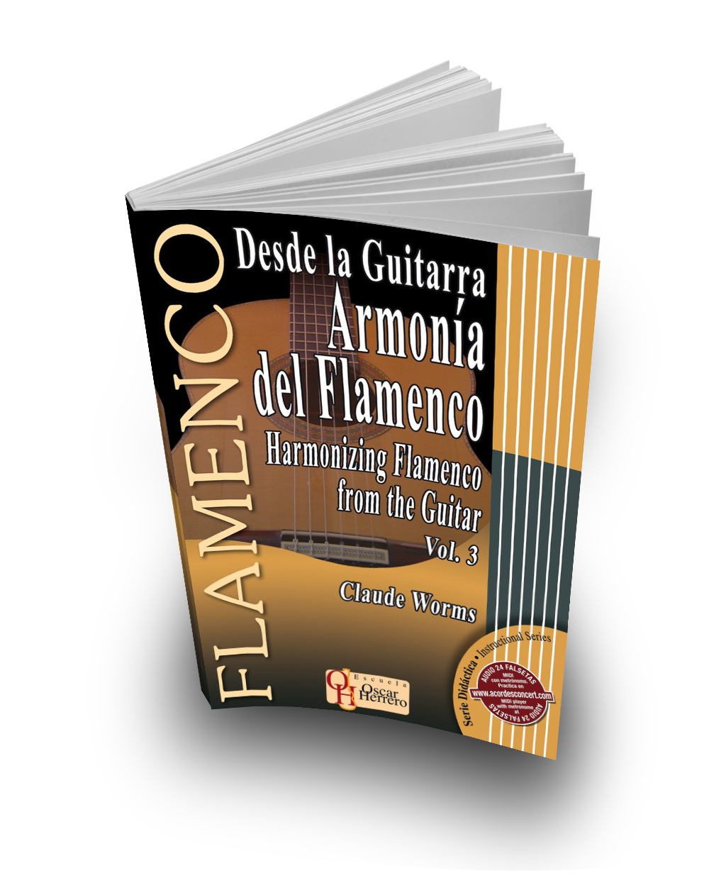 Flamenco harmony guitar for tango, zambra, malaguena and alegrias