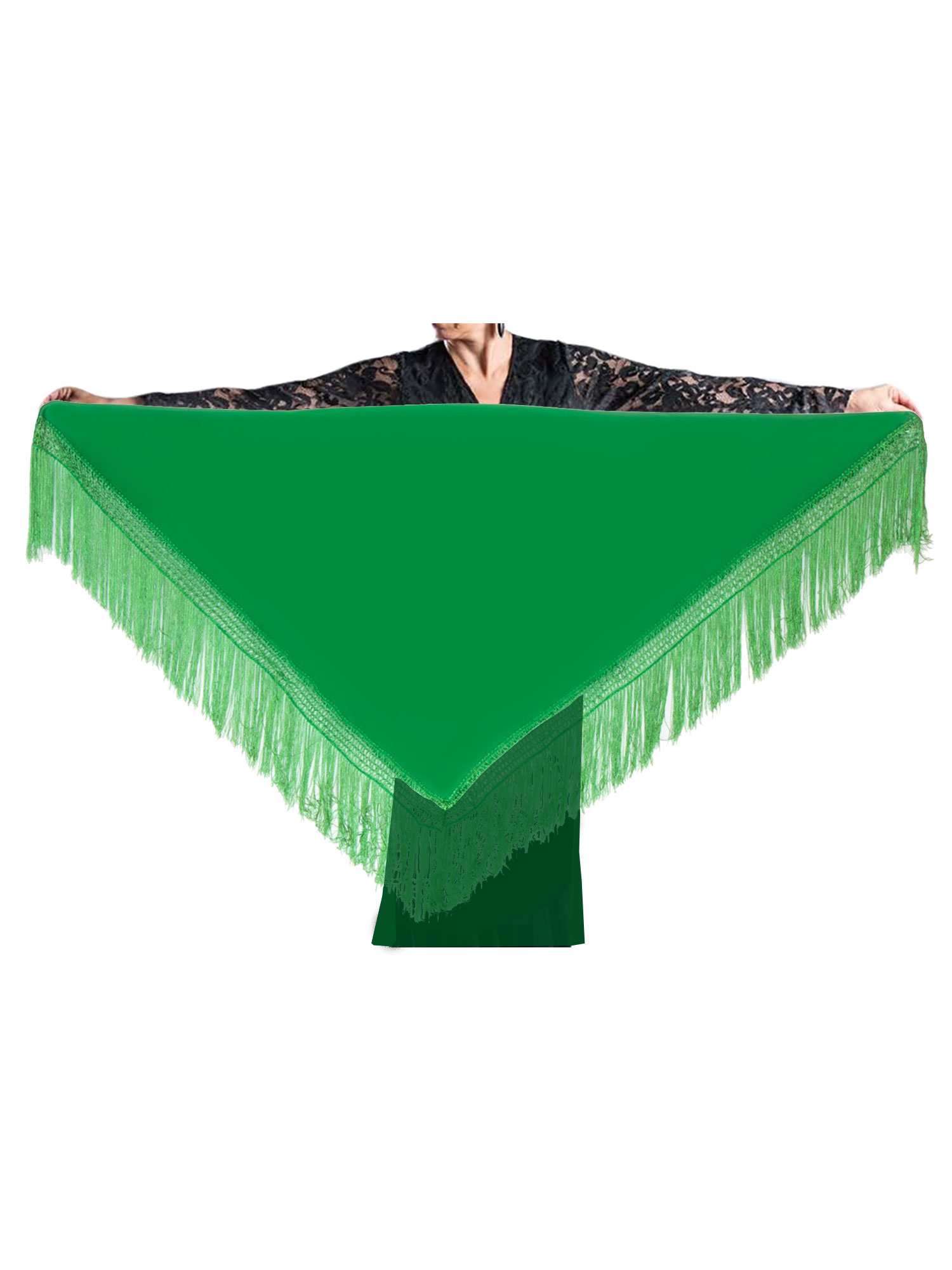 flamenco shawl green 150 x 70