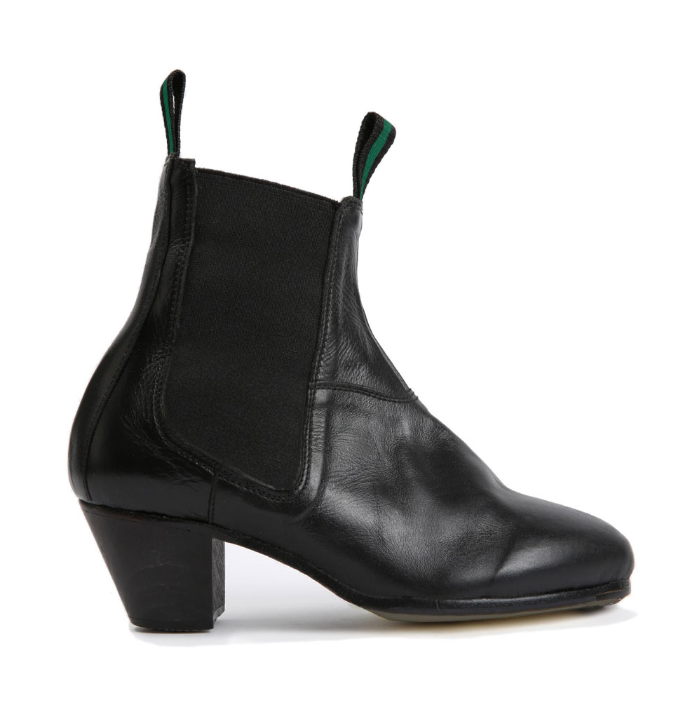 Flamenco boots in black leather