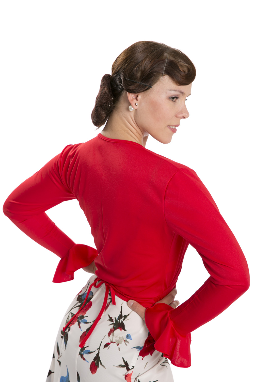 Flamenco dance blouse red