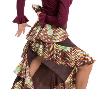 Flamenco Dance Skirt Azabache II Marron-7344C6